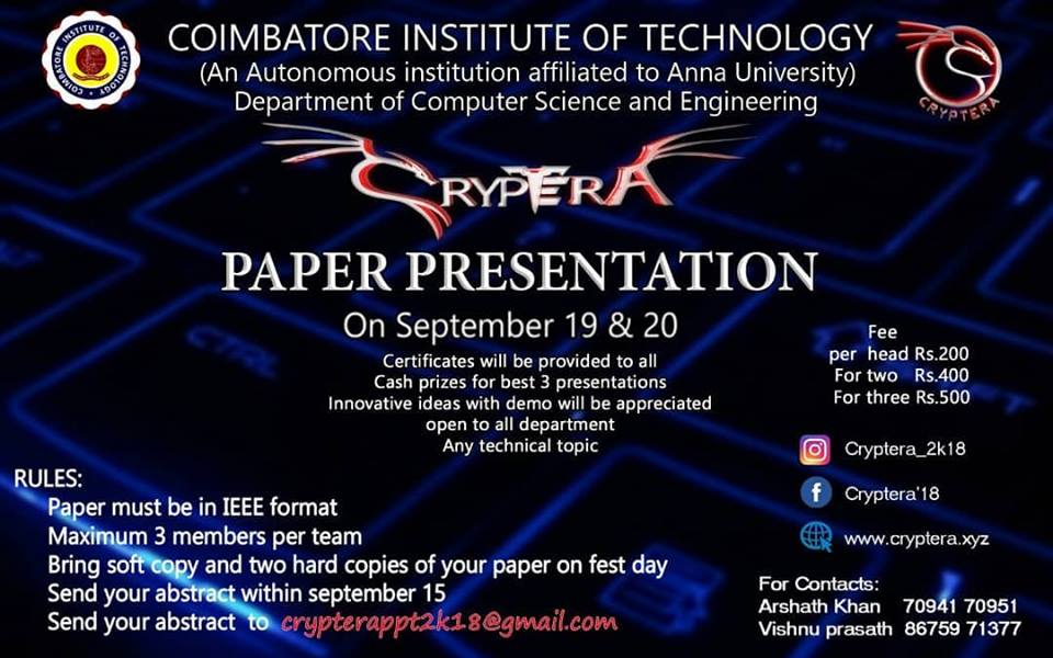 latest topics for paper presentation in information technology