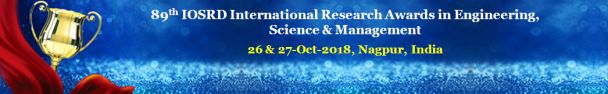 89th IOSRD International Research Awards in Engineering, Science and Management