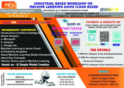 Industrial Based Workshop On Machine Learning Using Cloud  Azure