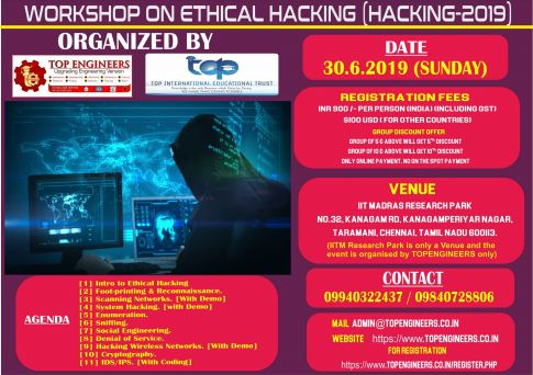 WORKSHOP ON ETHICAL HACKING HACKING-2019