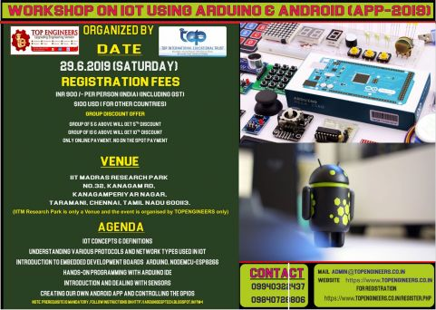 WORKSHOP ON IOT USING ARDUINO & ANDROID APP-2019