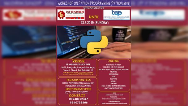WORKSHOP ON PYTHON PROGRAMMING (PROGRAM-2019)