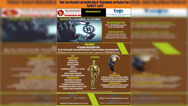 WORKSHOP TRAINING ON ROBOTICS - ROBOT-2019